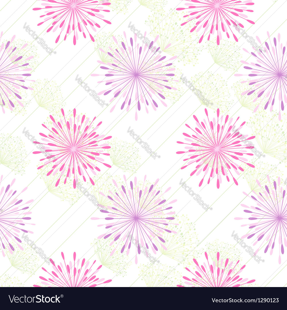 Colorful flower seamless pattern vector | Price: 1 Credit (USD $1)