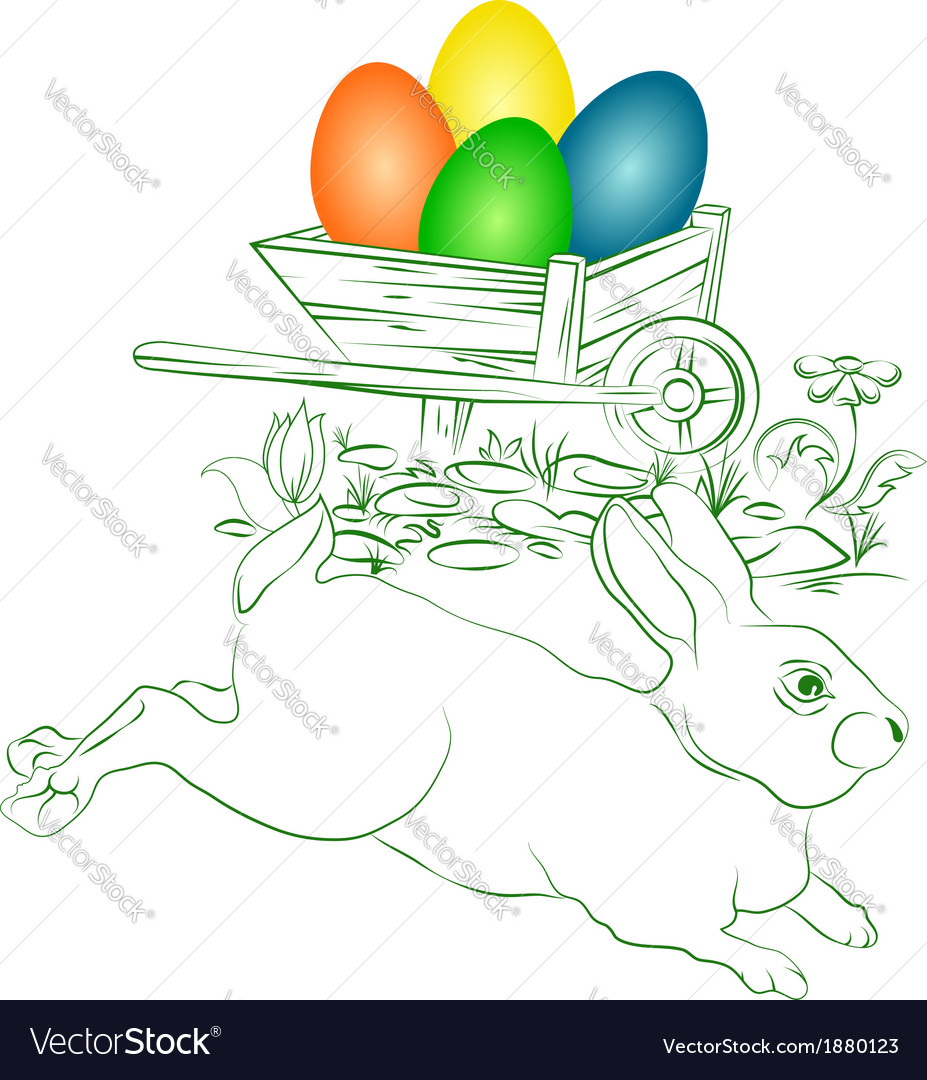 Easter eggs and bunny vector | Price: 1 Credit (USD $1)