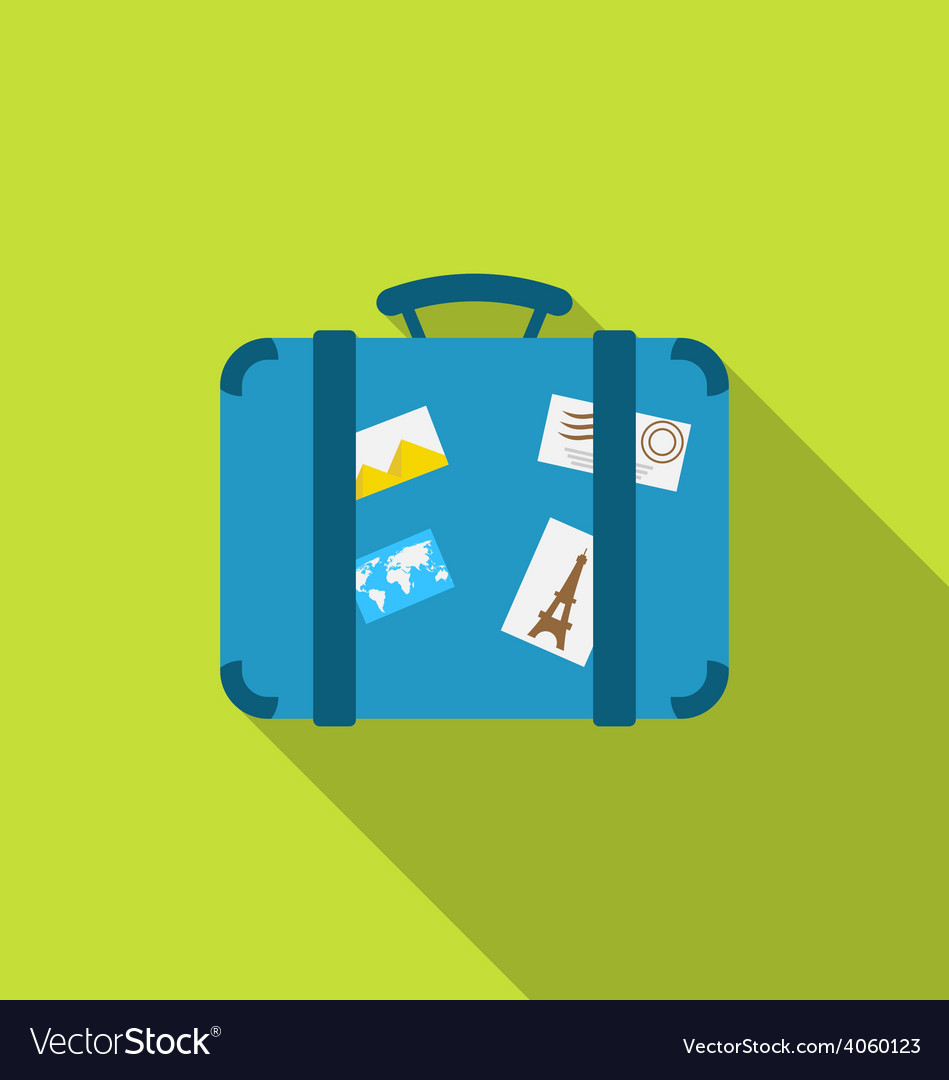 Flat modern icon of handle baggage with funky vector | Price: 1 Credit (USD $1)