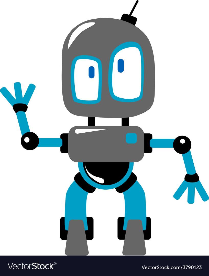 Funny cartoon robot vector   Price: 1 Credit (USD $1)