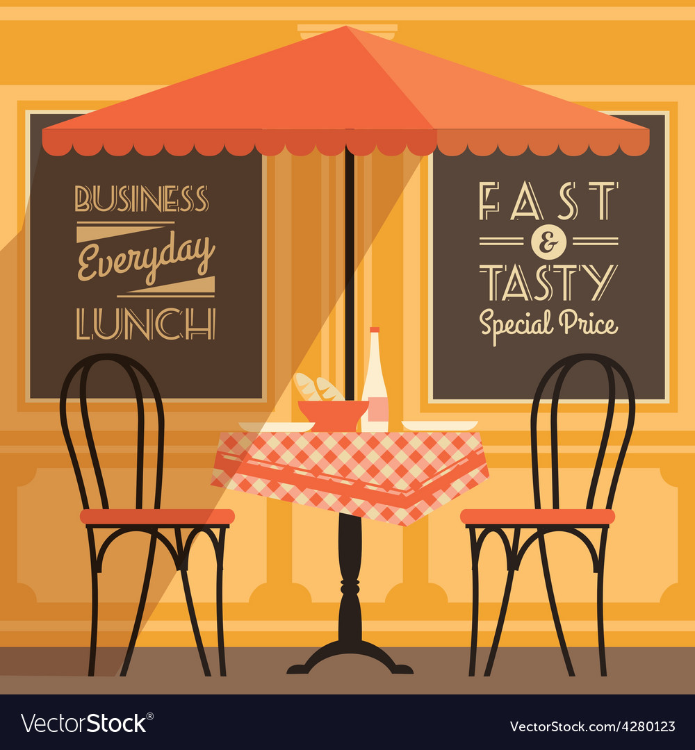 Modern flat design of street cafe vector | Price: 1 Credit (USD $1)