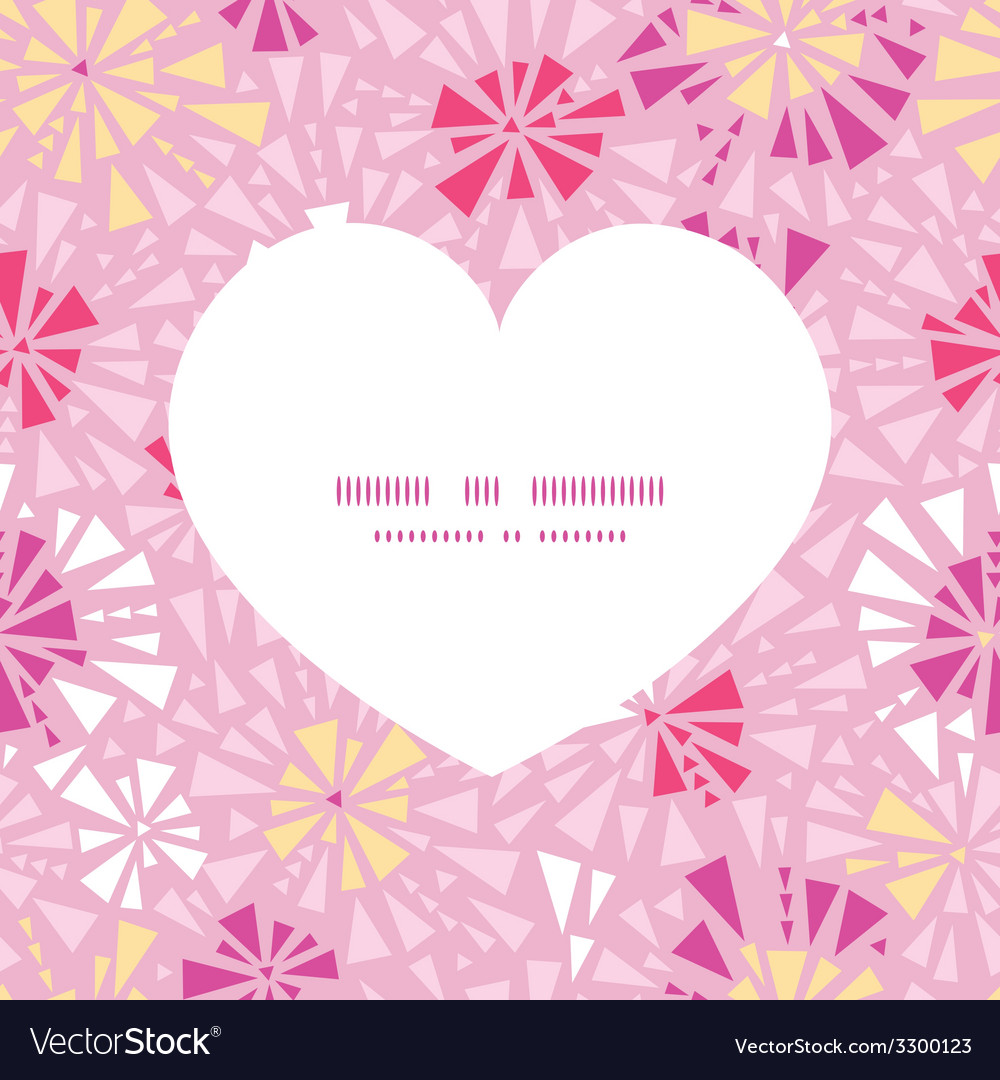 Pink abstract triangles heart silhouette pattern vector | Price: 1 Credit (USD $1)