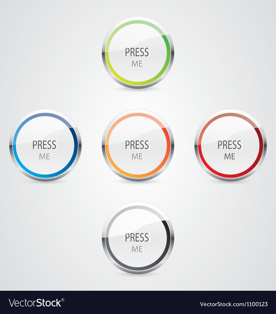 Press me button vector | Price: 1 Credit (USD $1)