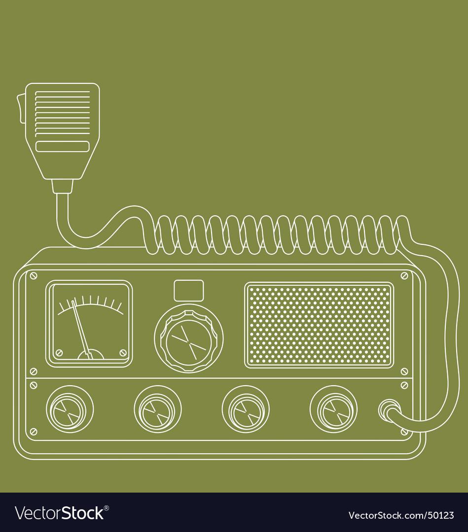 Retro cb radio vector | Price: 1 Credit (USD $1)