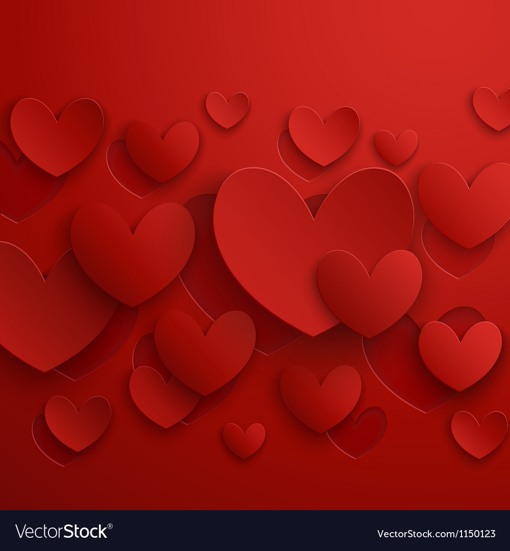 Valentine abstract red vector | Price: 1 Credit (USD $1)