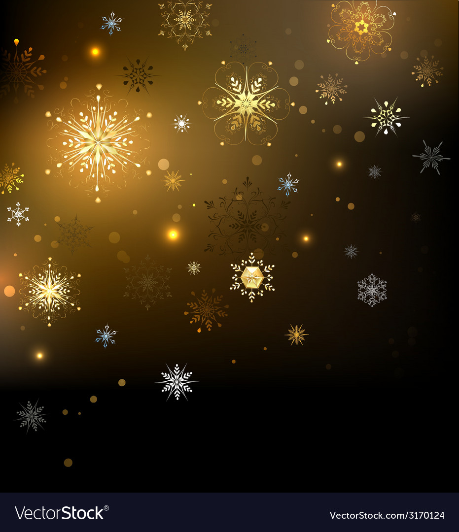 Background with gold snowflakes vector | Price: 1 Credit (USD $1)