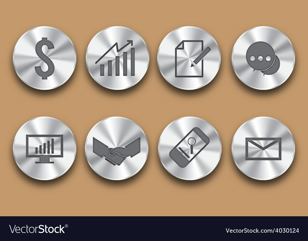 Business steel icon vector | Price: 1 Credit (USD $1)