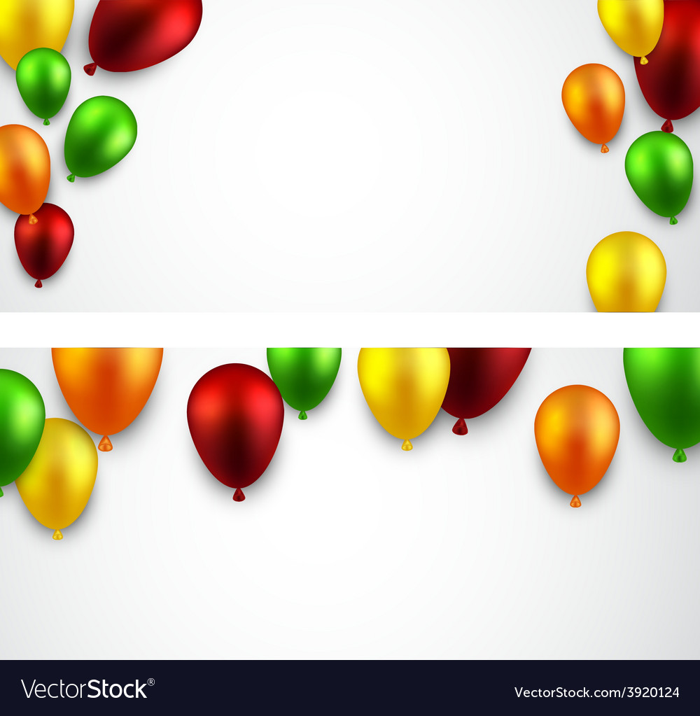 Celebrate banners with balloons vector | Price: 1 Credit (USD $1)