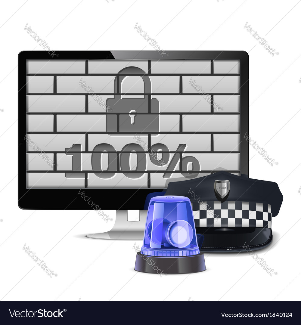 Computer security concept vector | Price: 1 Credit (USD $1)