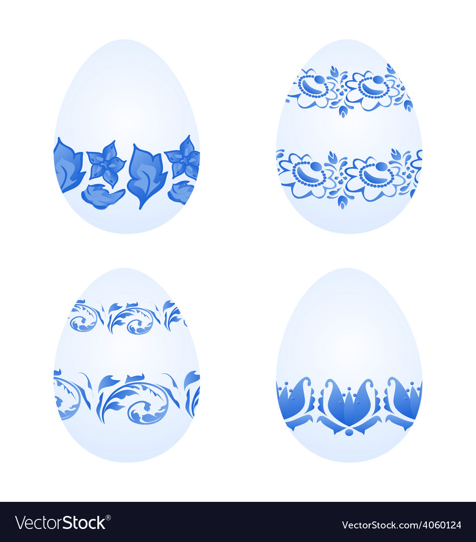 Easter eggs with russian national ornament in vector | Price: 1 Credit (USD $1)