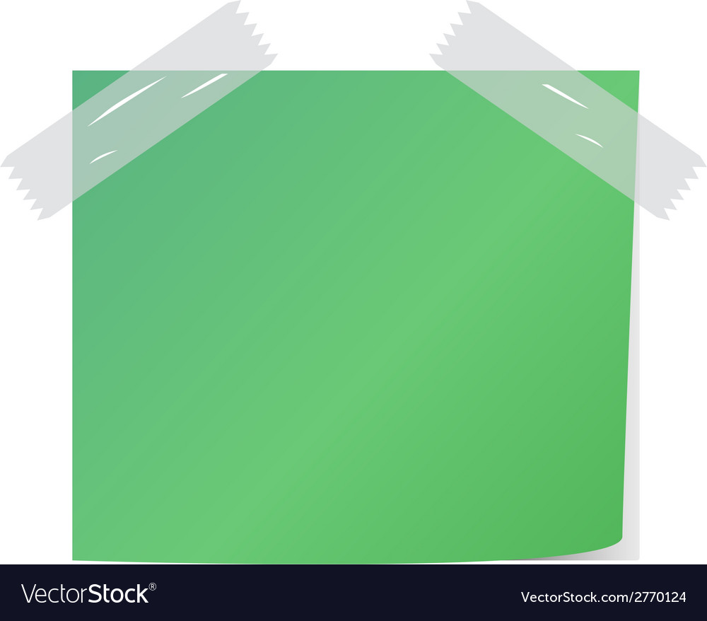 Green post it vector | Price: 1 Credit (USD $1)