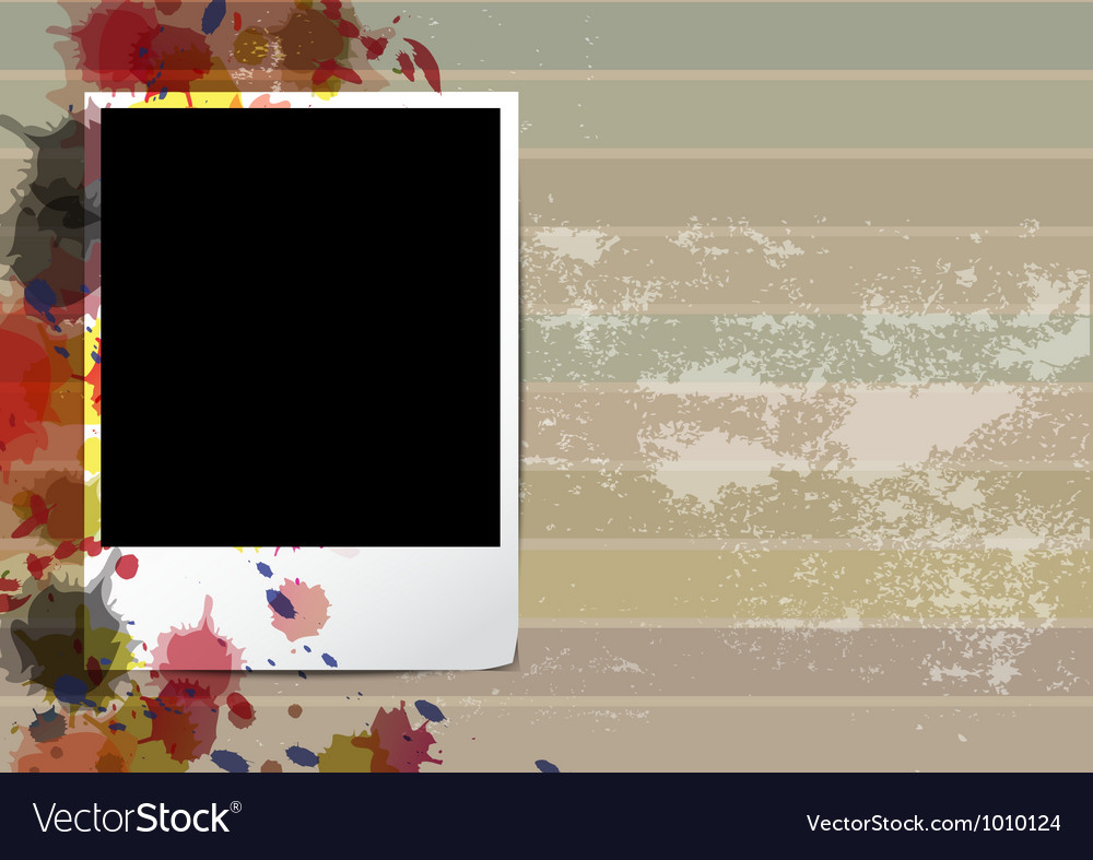 Grunge old frame picture design vector | Price: 1 Credit (USD $1)