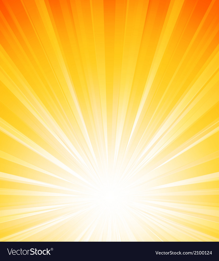 Orange summer sun light burst vector | Price: 1 Credit (USD $1)