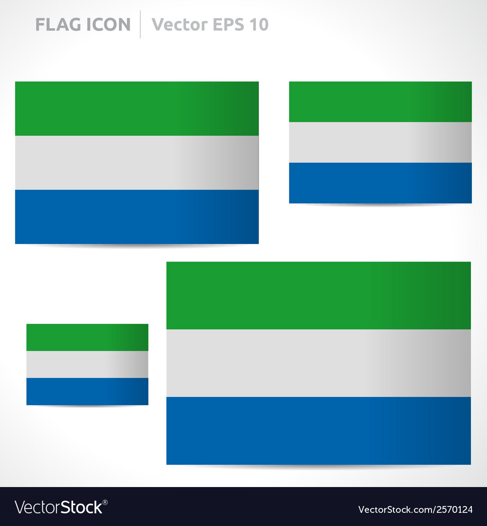 Sierra leone flag template vector | Price: 1 Credit (USD $1)
