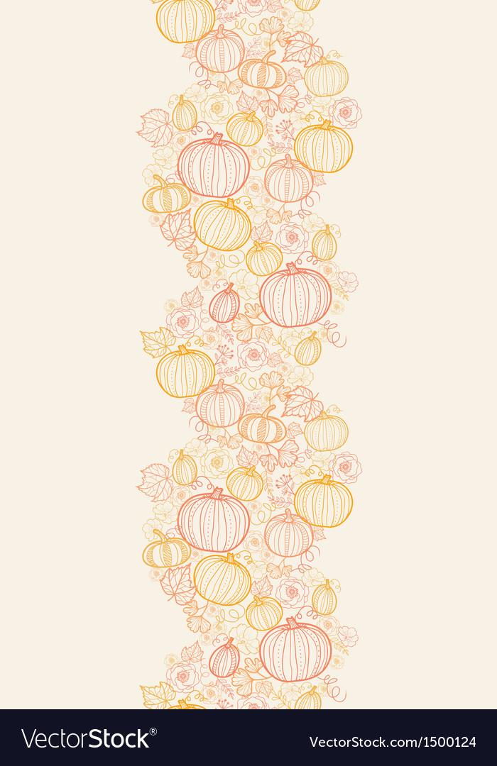 Thanksgiving line art pumkins horizontal seamless vector   Price: 1 Credit (USD $1)