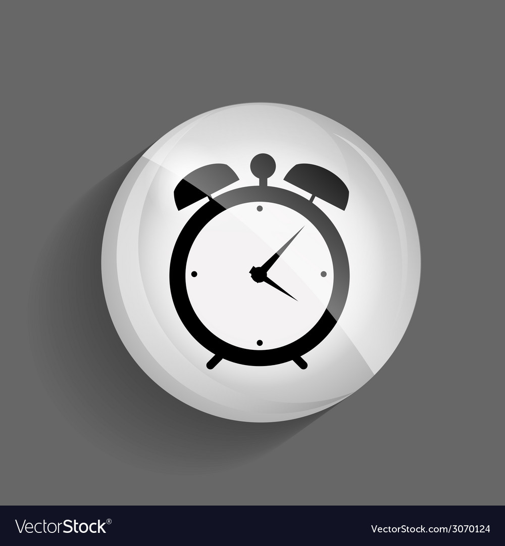 Time glossy icon vector | Price: 1 Credit (USD $1)