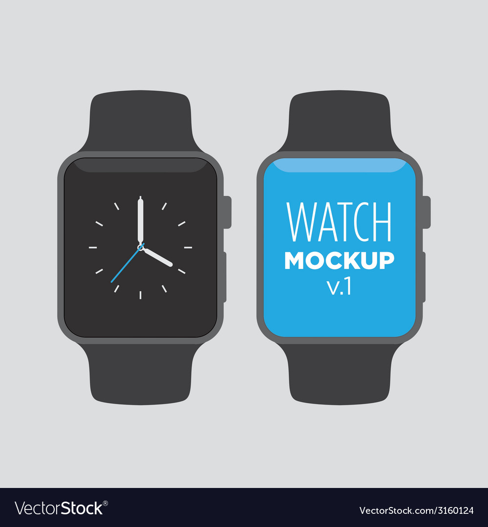 Watch mockup v1 vector | Price: 1 Credit (USD $1)