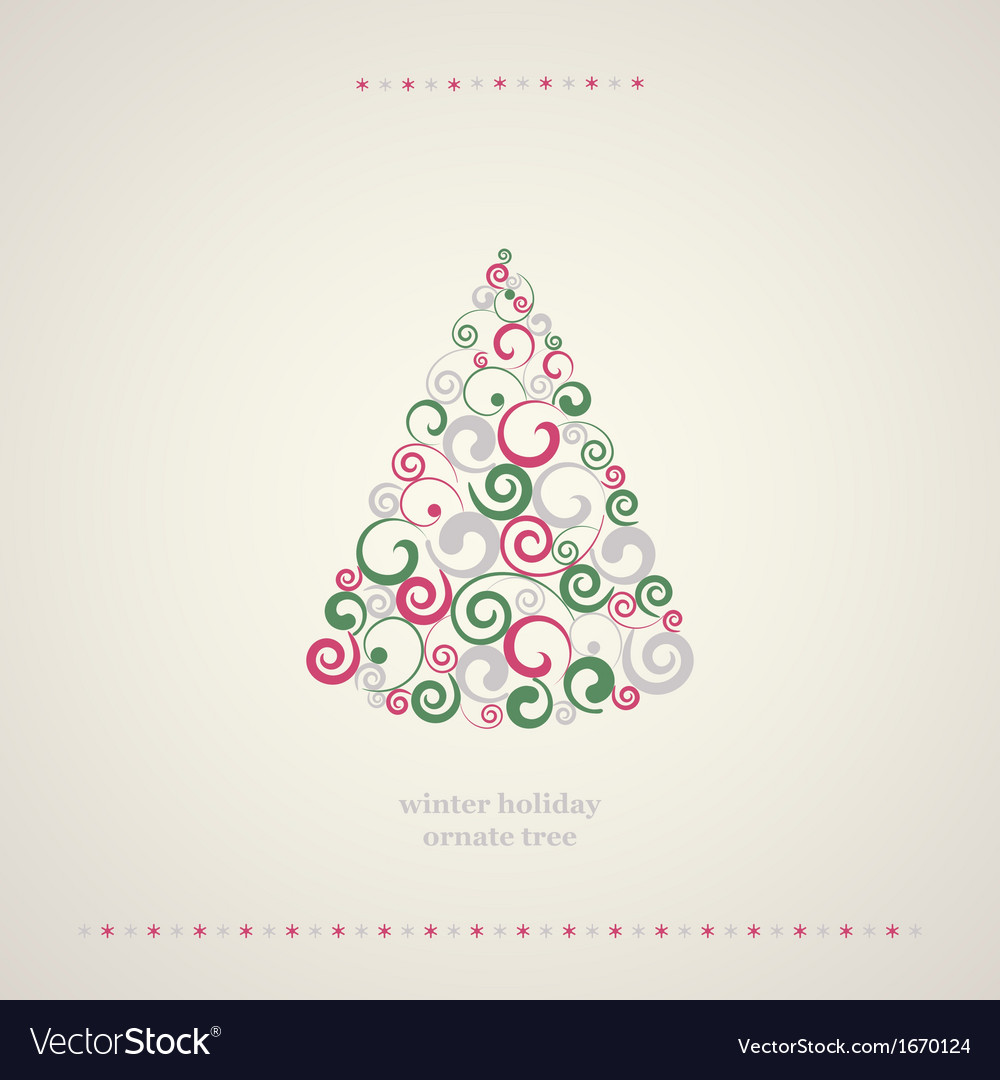 Winter holidays decoration tree vector | Price: 1 Credit (USD $1)