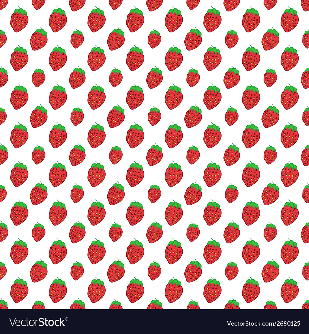 Bright red strawberry on white background - vector | Price: 1 Credit (USD $1)