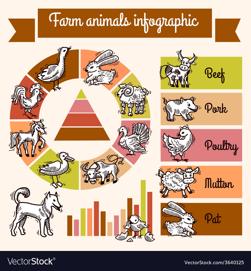 Farm infographics set vector | Price: 1 Credit (USD $1)