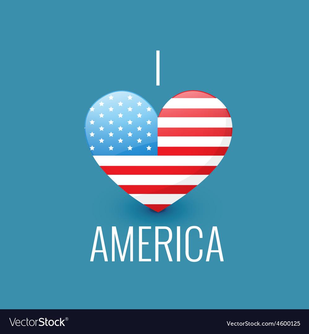 I love america vector | Price: 1 Credit (USD $1)