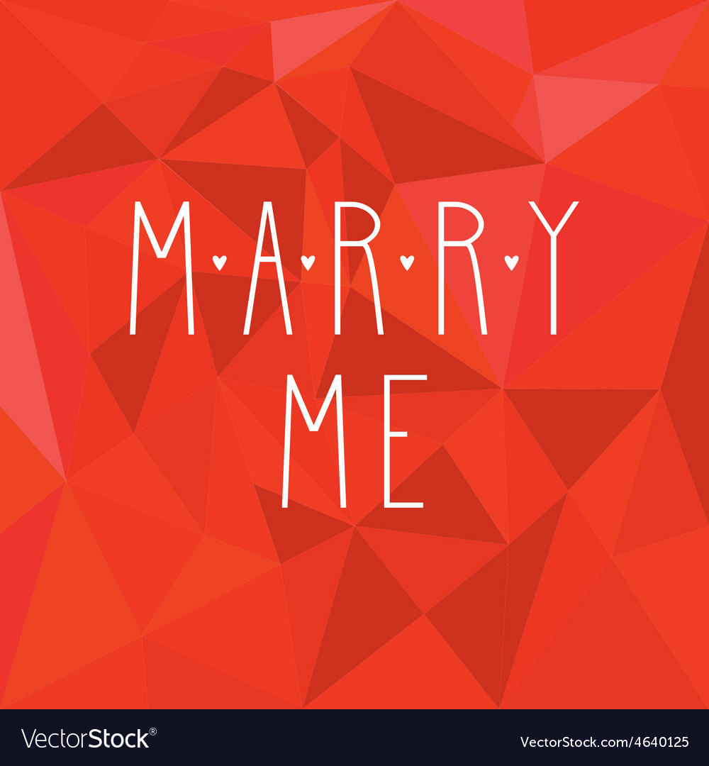 Marry me card with hearts on red wrapping surface vector | Price: 1 Credit (USD $1)