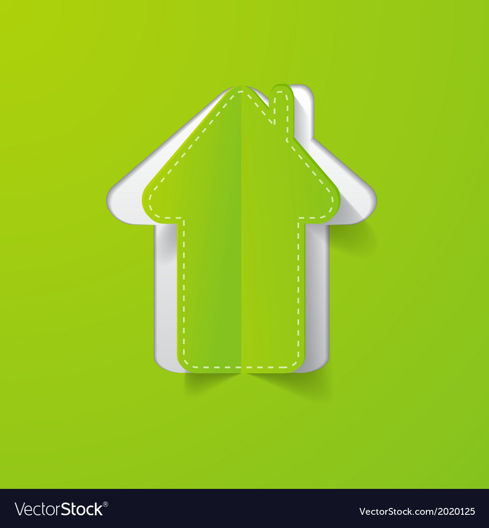 Paper house green vector | Price: 1 Credit (USD $1)