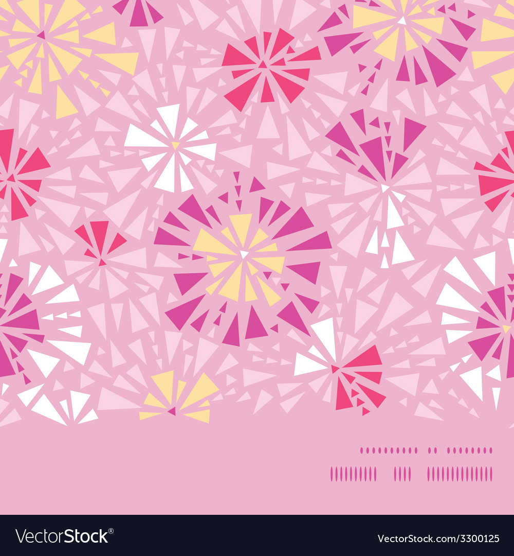 Pink abstract triangles horizontal frame seamless vector | Price: 1 Credit (USD $1)