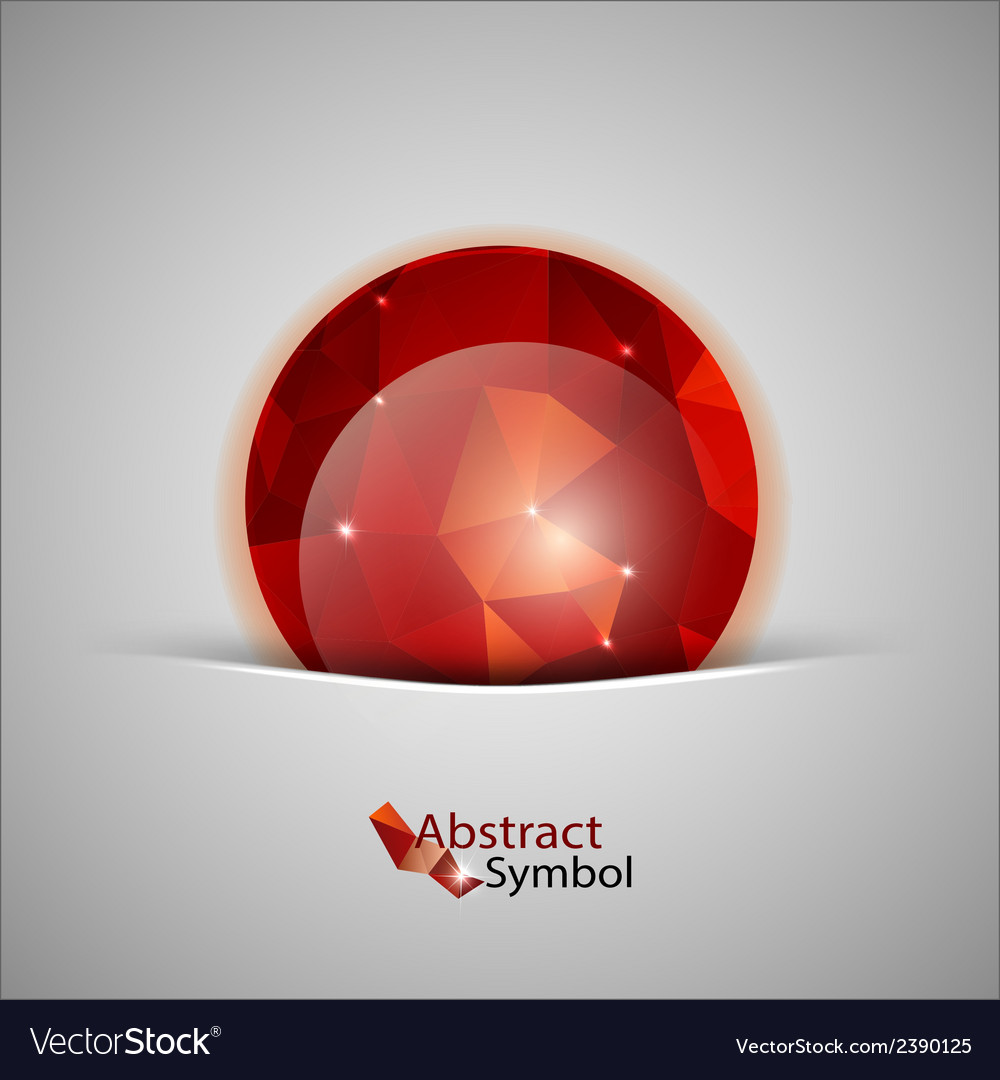 Red abstract ball vector | Price: 1 Credit (USD $1)