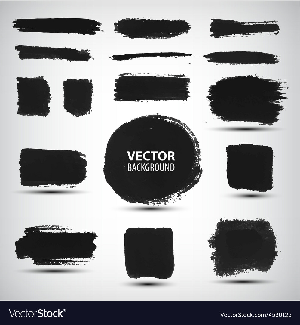 Set of ink brush strokes vector | Price: 1 Credit (USD $1)