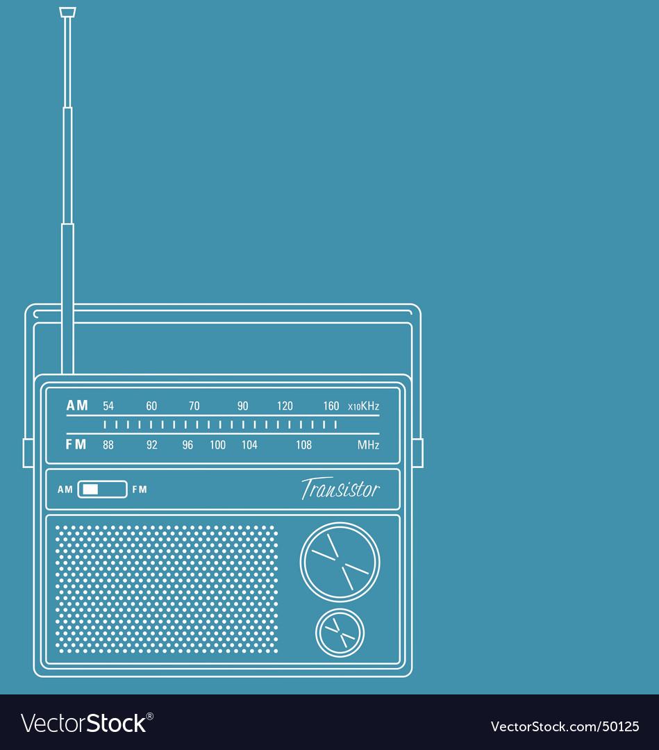 Transistor radio vector | Price: 1 Credit (USD $1)