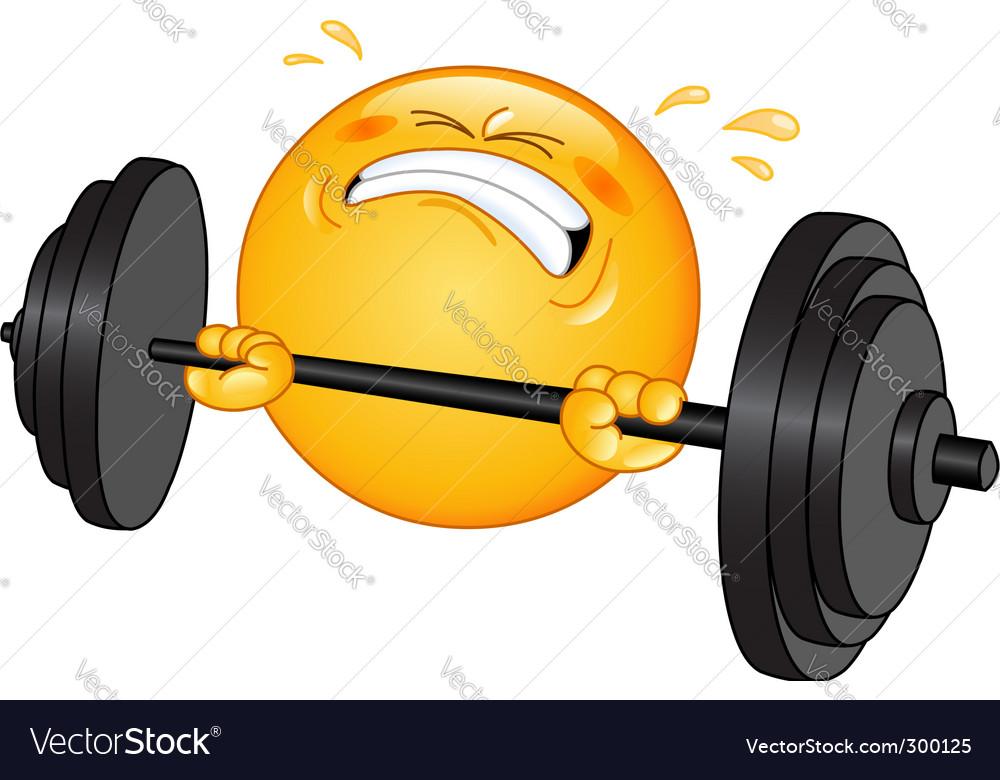 Weightlifter emoticon vector | Price: 1 Credit (USD $1)