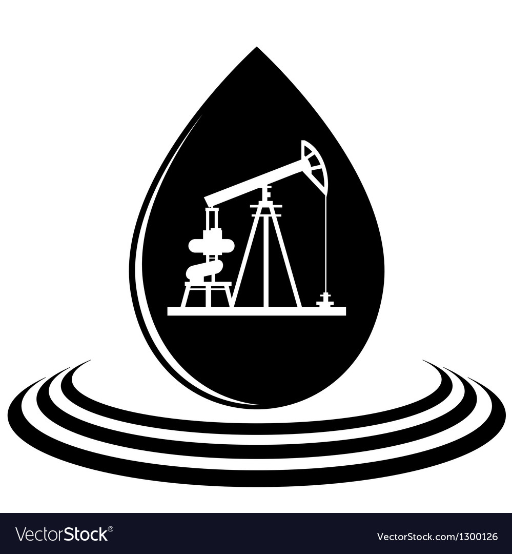 A drop of oil and the oil pump vector | Price: 1 Credit (USD $1)