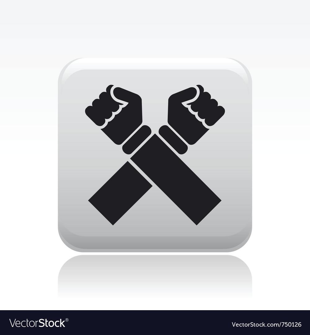 Cross icon vector | Price: 1 Credit (USD $1)