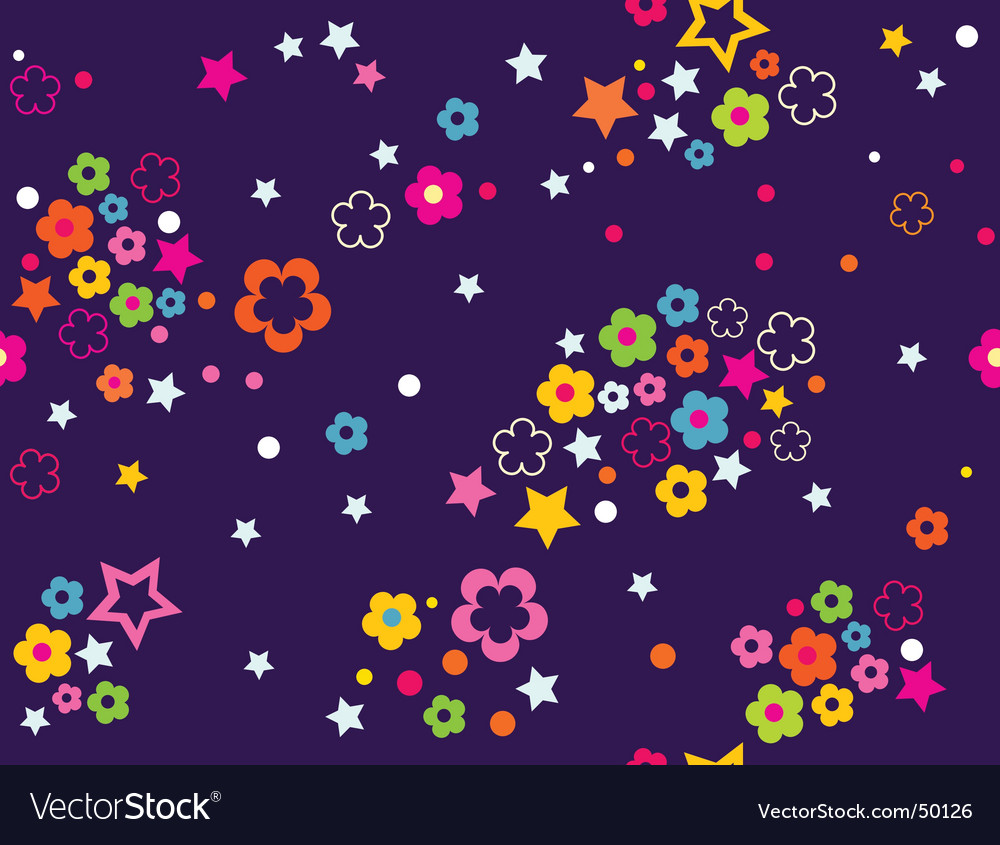 Floral celestial sky vector | Price: 1 Credit (USD $1)