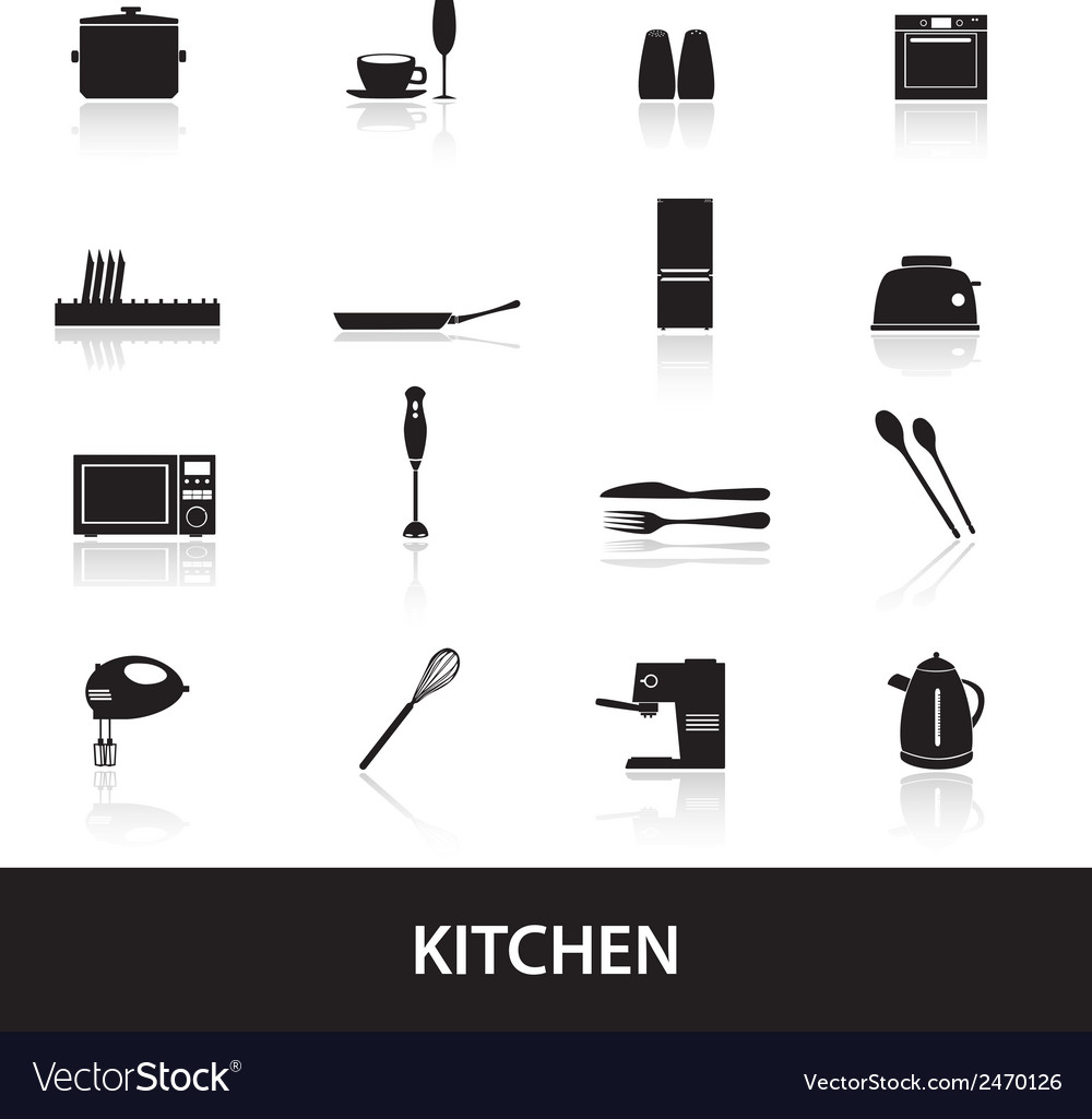 Home kitchen icon eps10 vector | Price: 1 Credit (USD $1)