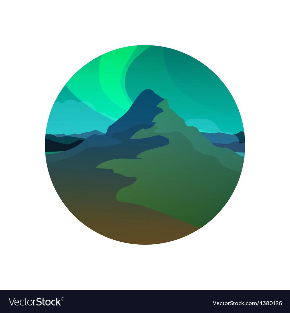 Northern lights round vector | Price: 1 Credit (USD $1)
