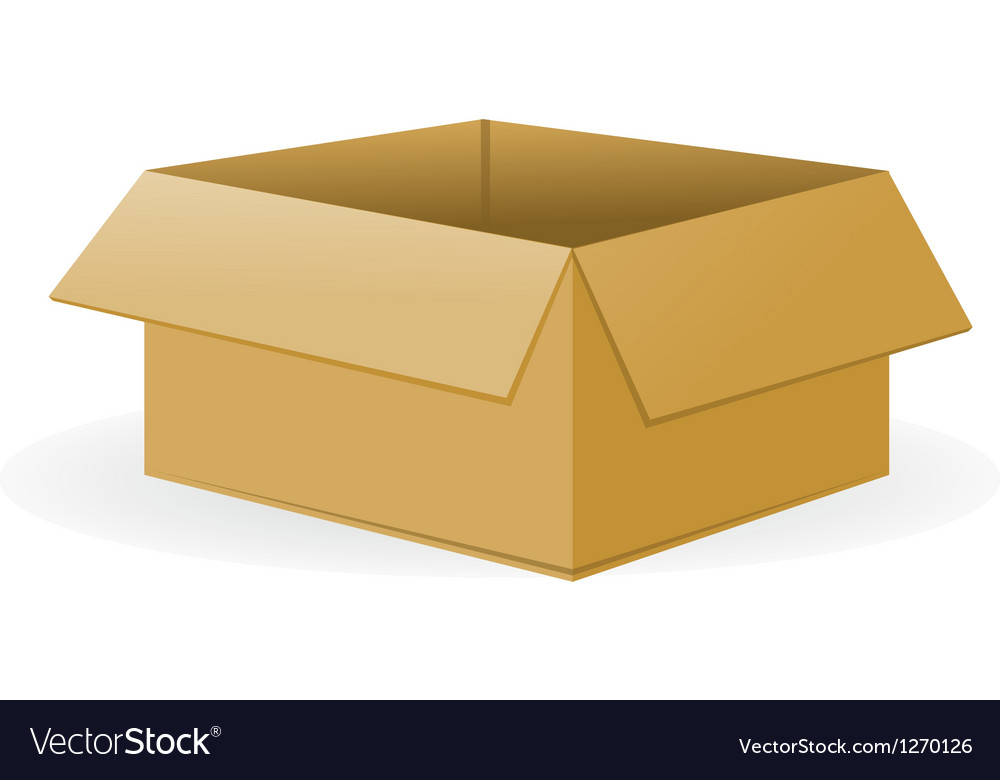 Open cardboard package vector | Price: 1 Credit (USD $1)