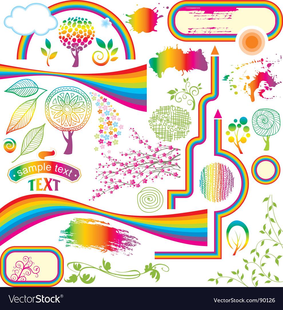 Rainbow vector | Price: 1 Credit (USD $1)
