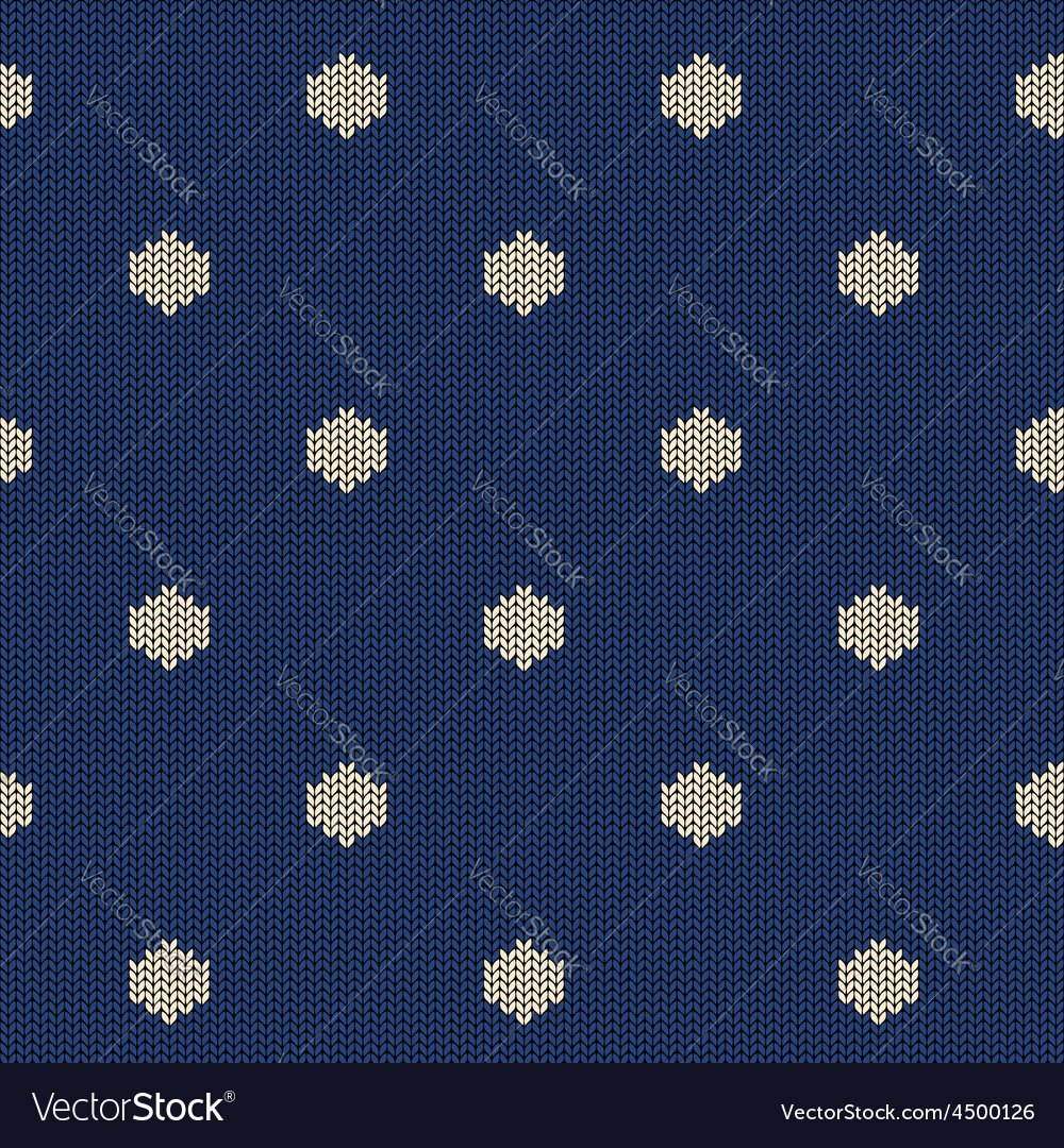 Seamless knitted pattern with polka dot vector | Price: 1 Credit (USD $1)