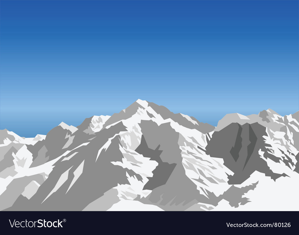 Snow landscape vector | Price: 1 Credit (USD $1)