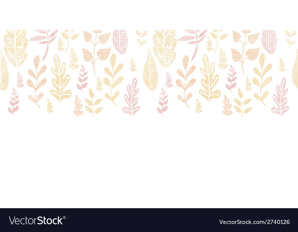 Textile textured fall leaves horizontal seamless vector | Price: 1 Credit (USD $1)