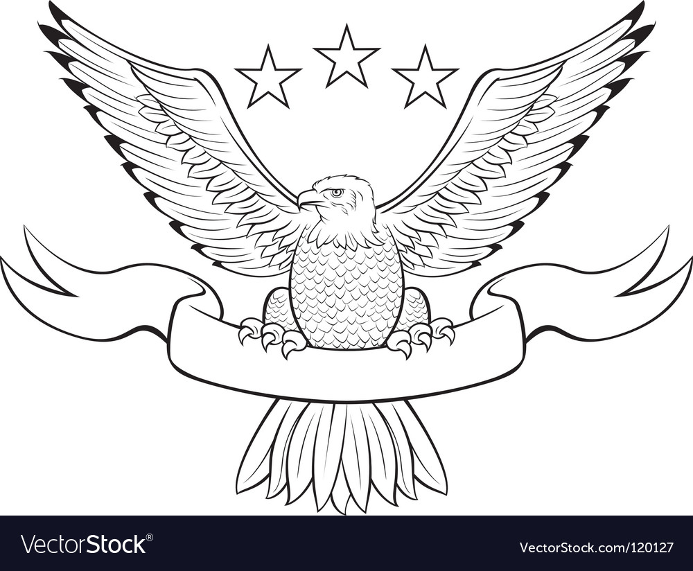 Bald eagle black vector | Price: 1 Credit (USD $1)