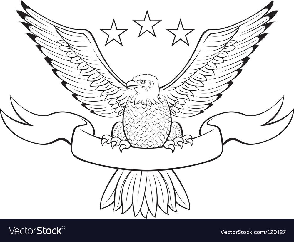 Bald eagle black vector | Price: 1 Credit (USD $1)