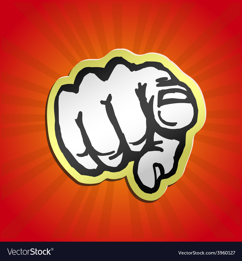 I want you pointing finger vector | Price: 1 Credit (USD $1)