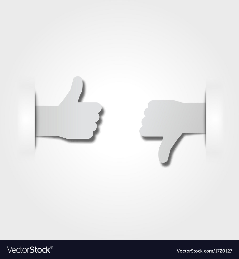 Like or dislike paper stickers vector | Price: 1 Credit (USD $1)