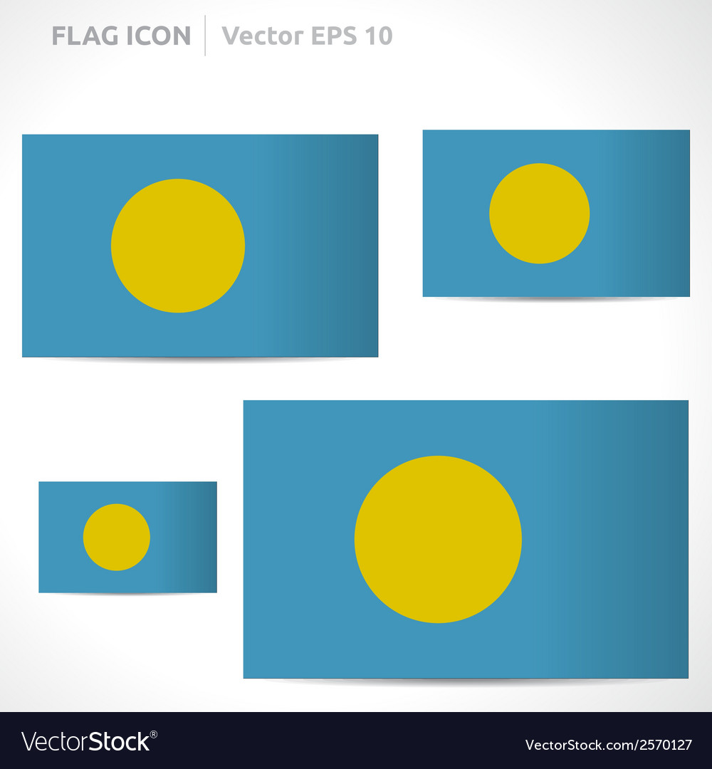 Palau flag template vector | Price: 1 Credit (USD $1)