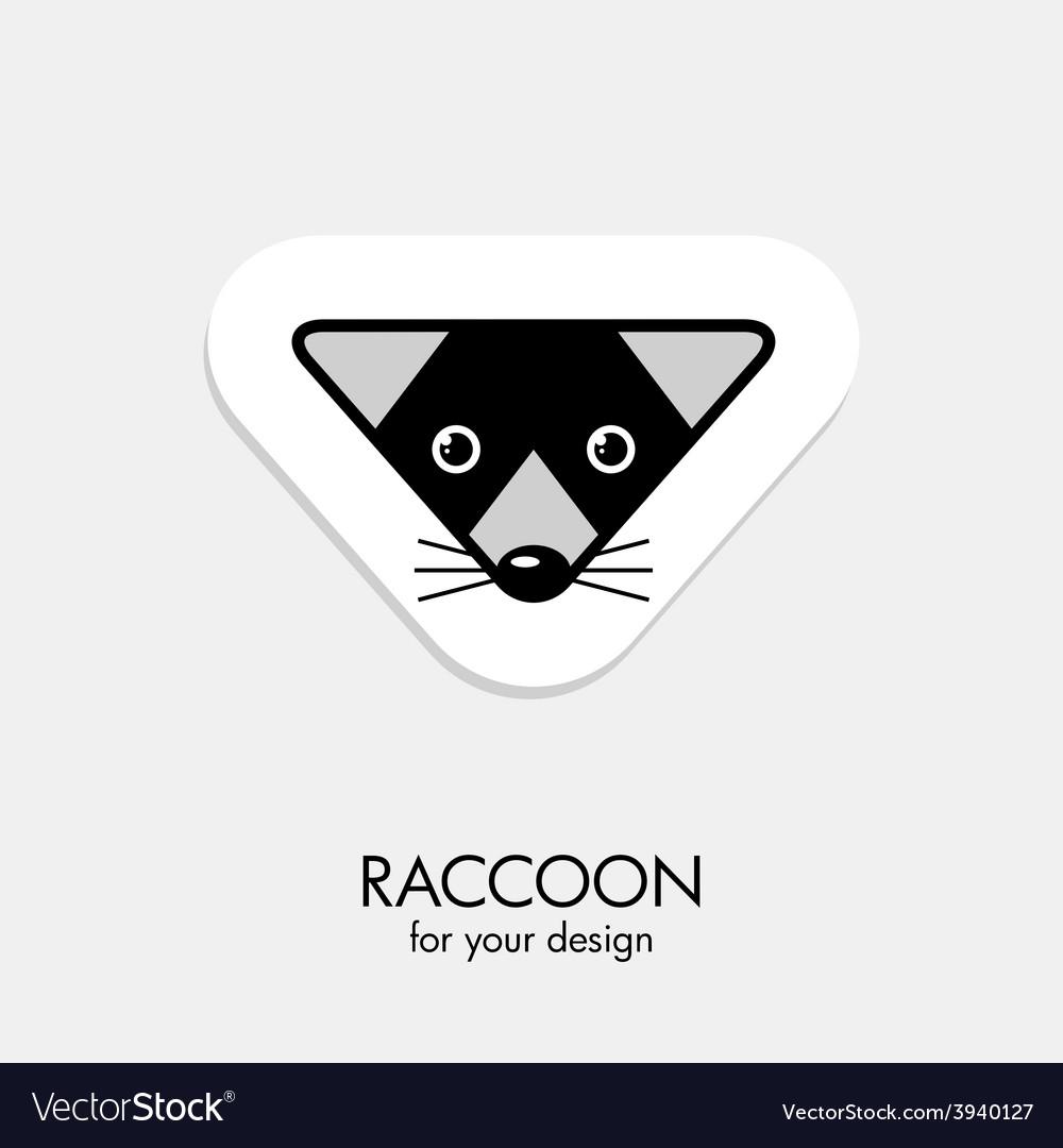 Raccoon icon vector | Price: 1 Credit (USD $1)