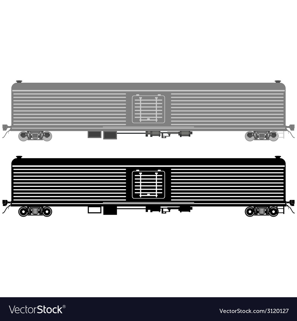 Railway wagon refrigerated vector | Price: 1 Credit (USD $1)