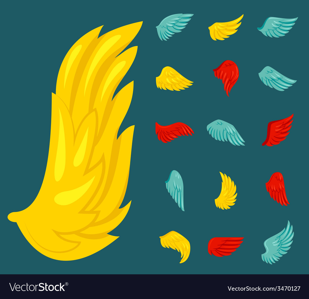 Wing icon flat vector | Price: 1 Credit (USD $1)